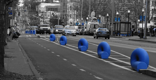 Blue Bicycle Baracades