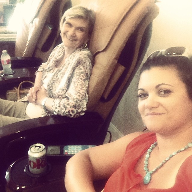 Mani/Pedi time with my mommy!!!