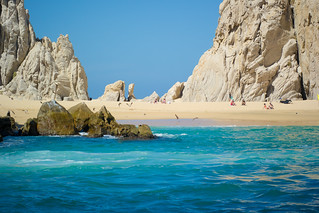 Image of Playa del Amor near Los Cabos. wedding vacation beach mexico paradise boda samsung marriage bajacaliforniasur cabosanlucas seaofcortez loscabos samsungcamera pueblobonitarose nx30 samsungnx30 imagelogger ditchthedslr