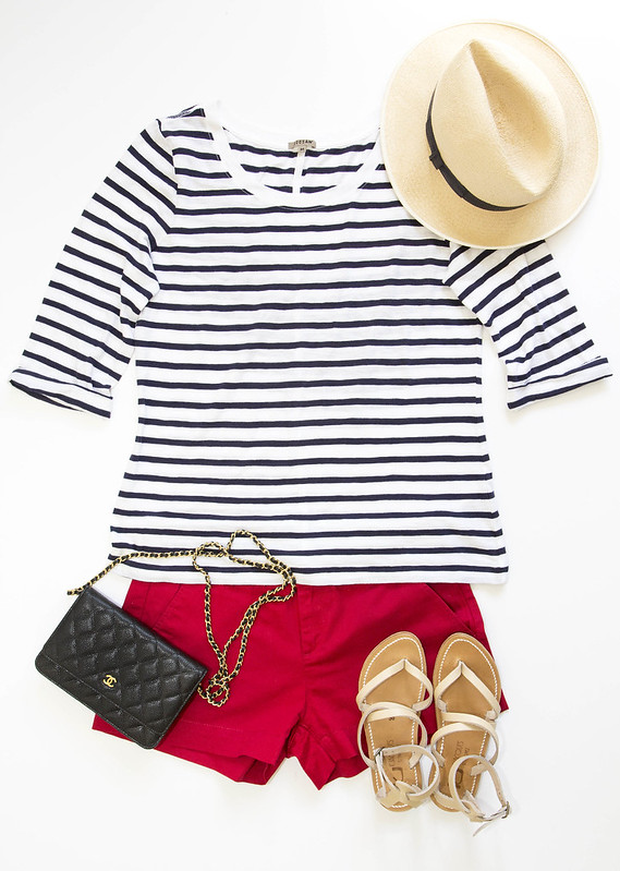 stripes-redshorts