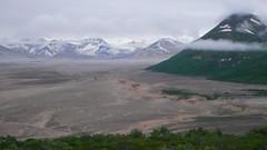 Widok na Doline pokryta 200m warstwa pumeksu.