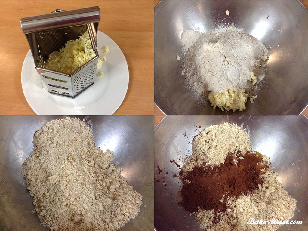 Preparamos la masa sablée de chocolate