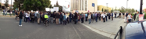 KXL protest, San Jose IMG_2497 panorama of the protest