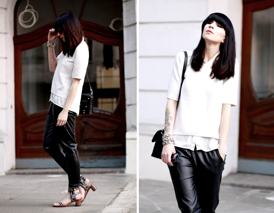 Casual Chic outfit sporty Isabel Marant Proenza Schouler ASOS style black and white city chic Berlin CATS & DOGS fashion blog Berlin 6