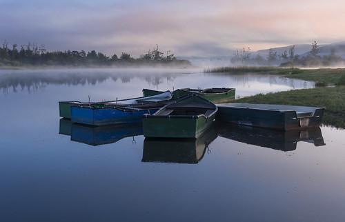 morning fog landscape geotagged boat spring slovenia zora slovenija jutro notranjska megla pomlad cerknicalake cerkniškojezero