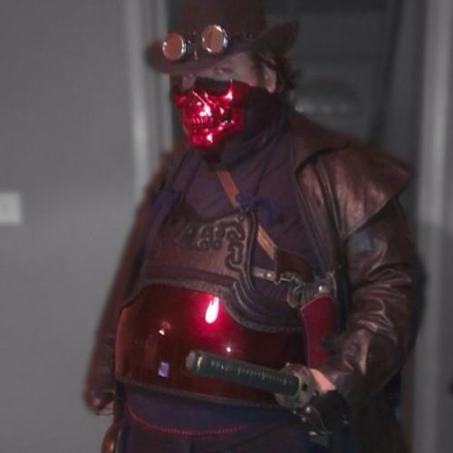 Steampunk samurai idea #steampunk #cosplay #costume #cowboy #gun #sword #steam #punk #wales #warrior #instagood #instafollow #igdaily #iphonesia #geeksgalaxy #instalike #nerdsandgeeksrule #nerdsandgeeksdoitbetter #geeksrule #geeksdoitbetter #dressup #gami