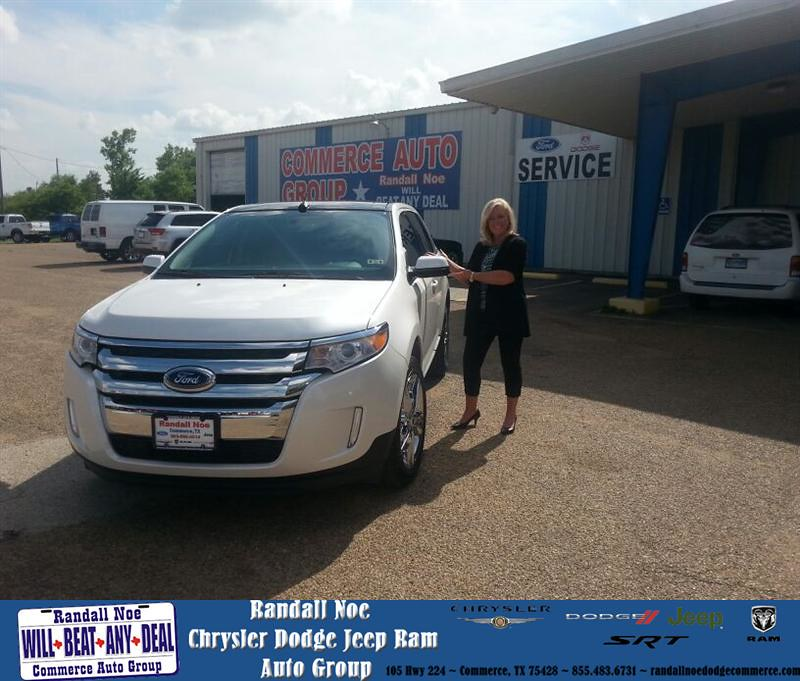 Randall Noe Dodge >> Congratulations To Carol Arrington On Your Ford Edge Pur