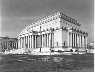 Photograph of the National Archives Building at the Corner of Constitution Avenue and 7th Street, 12/25/1935
