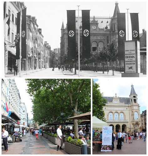 Place d'Armes, Luxembourg, then and now