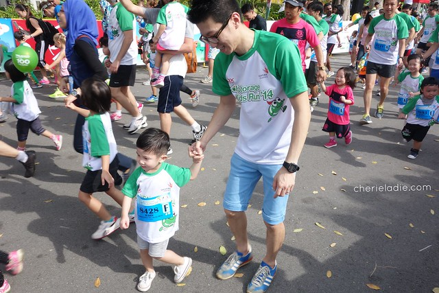 Jerry at the Cold Storage Kids Run 2014