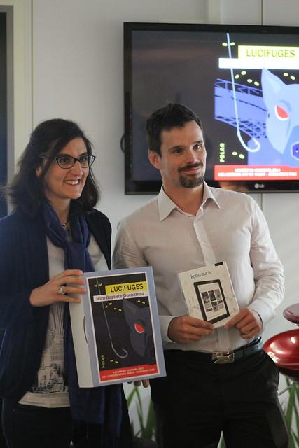 Camille Mofidi (Kobo Writing Life) et Jean-Baptiste Ducournau (Prix 2014 Nos lecteurs ont du talent)