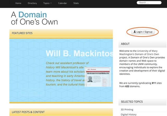 umwdomains homepage