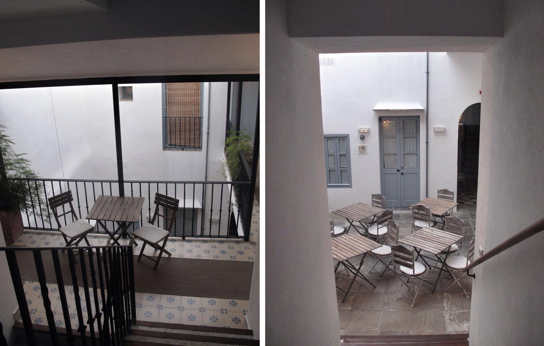 hotel la botica de vejer_patio_tipología_patio de vecinos_comunidad_