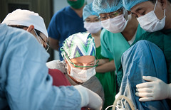 Lt. Cmdr. Kerrie Adams performs a hysterectomy at a local hospital in Phnom Penh June 21 as part of Pacific Partnership.(U.S. Navy/MC2 Karolina A. Oseguera)
