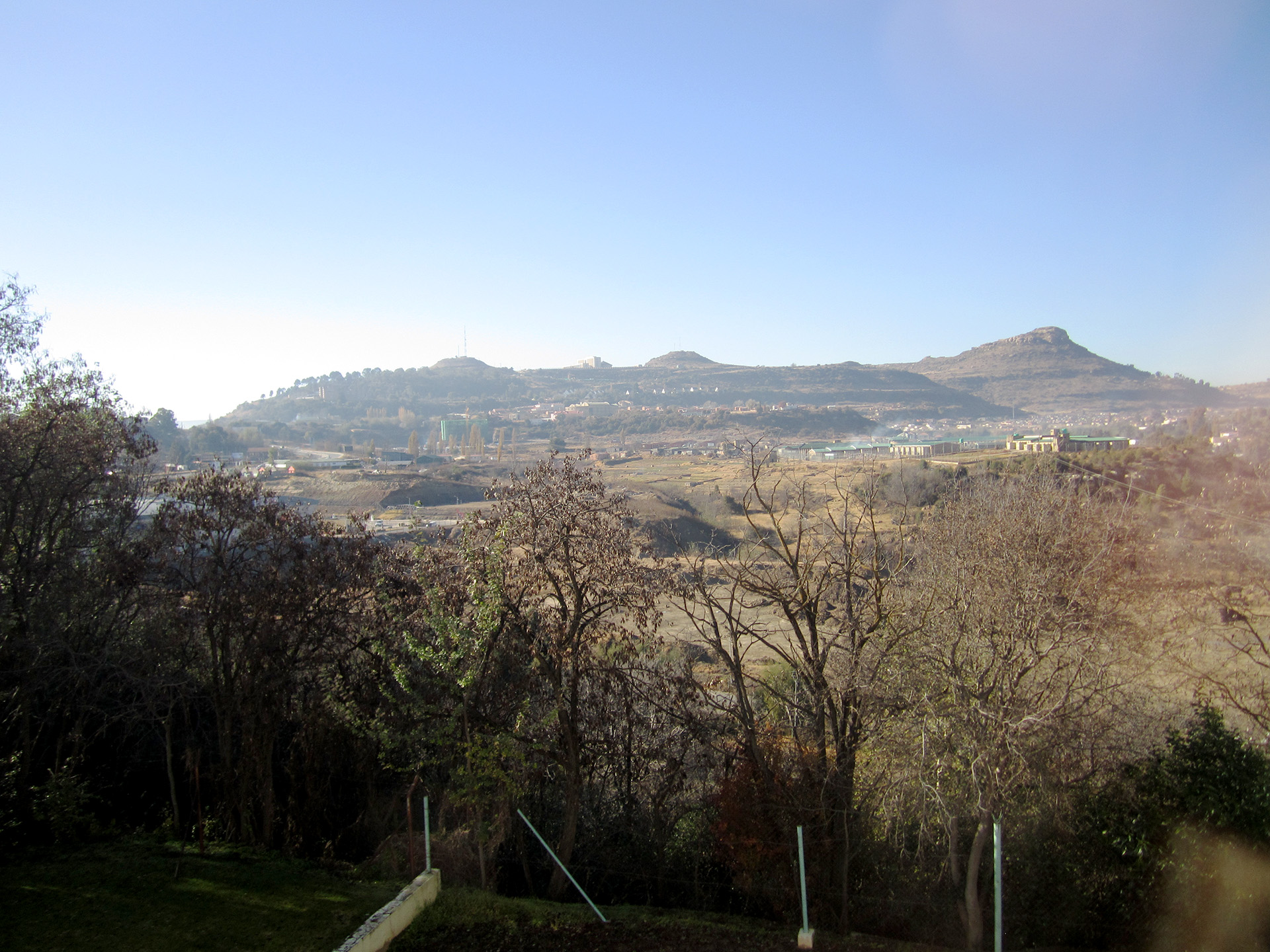 Looking out from our hotel over Lesotho.