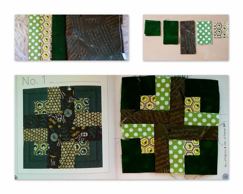 Collage Block1 cross green