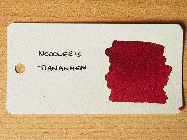 Noodler's Tiananmen - Ink Review - Word Card