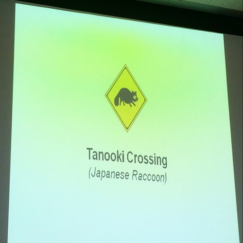 Tanooki crossing is the cutest thing I learned while studying for my driver's license test. (Haven't taken the test yet. Not worried.)