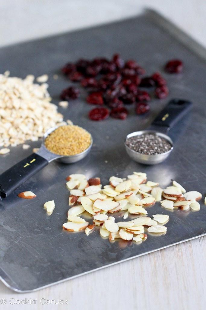 No-Bake Cherry Almond Granola Bites {Low Sugar, Gluten-Free}   cookincanuck.com #healthy