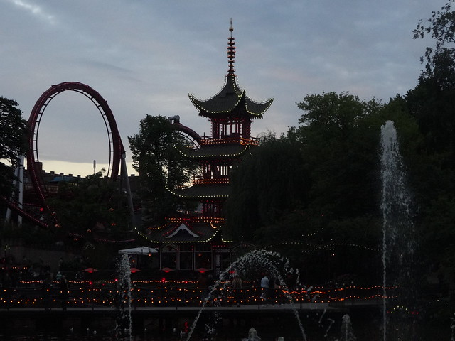Tivoli at sunset
