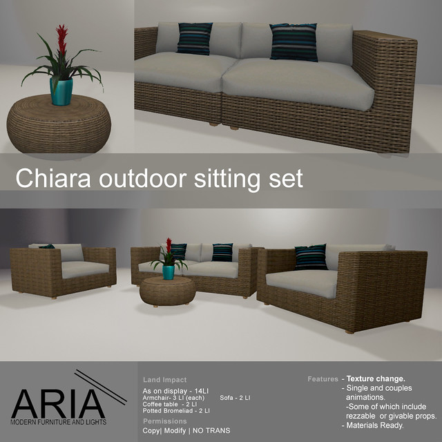 Chiara outdoor sitting set @ FaMeshed
