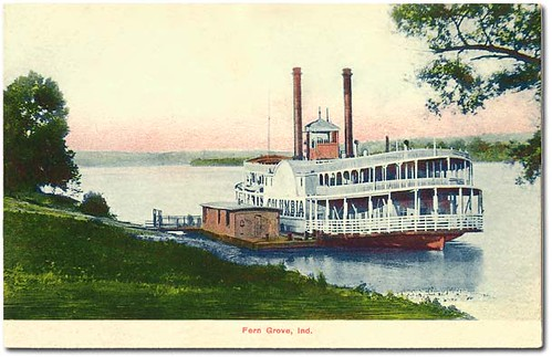 usa signs color history boats dock ships parks indiana transportation rivers streams businesses clarkcounty steamboats ferngrove hoosierrecollections