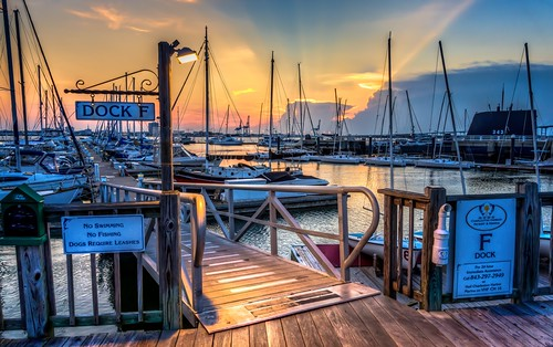 blue sunset orange sign yellow clouds boats pier dock nikon colorful mountpleasant southcarolina charleston hdr topaz photomatix patriotspointmarina curtiscabana