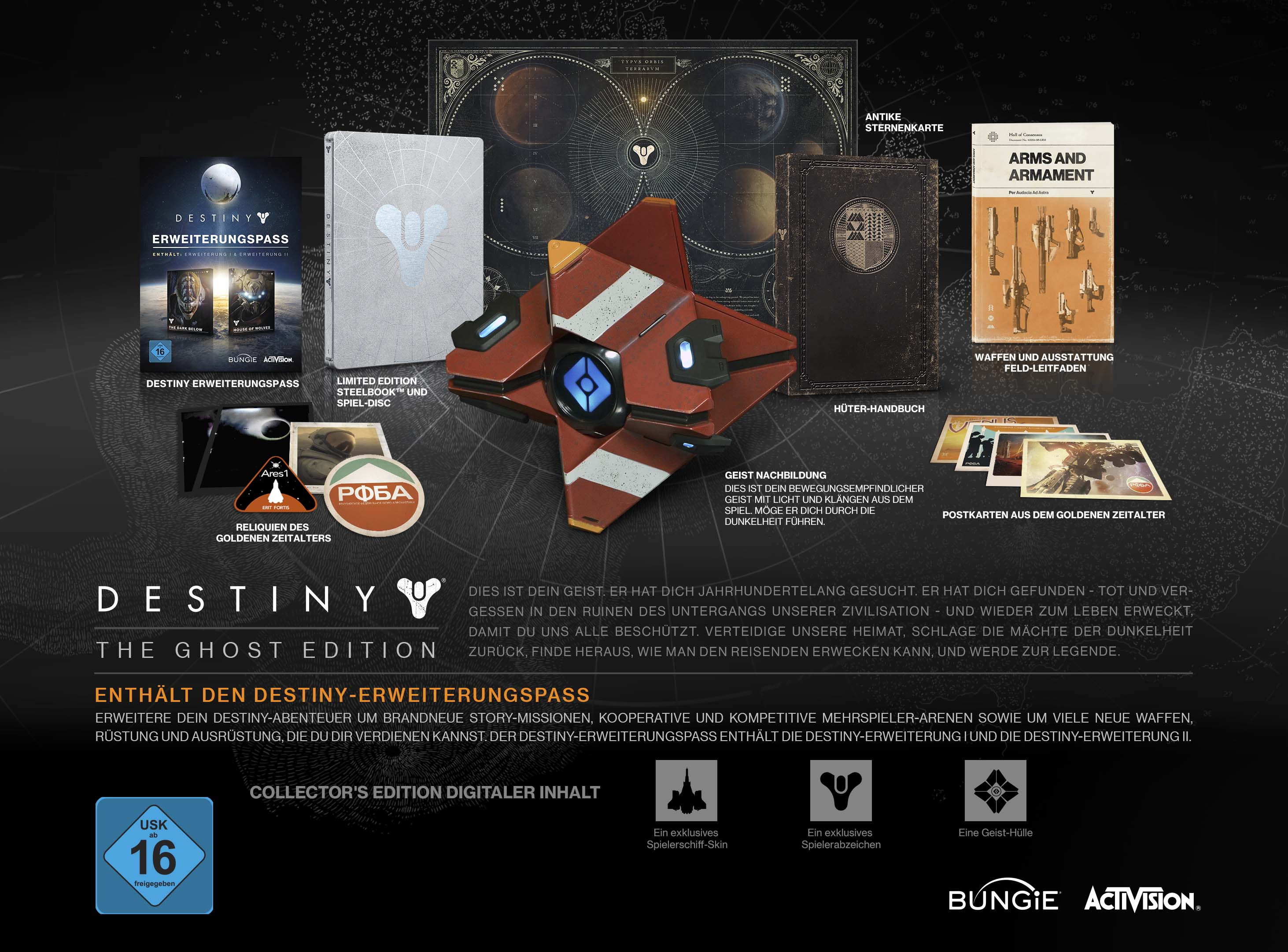 Destiny The Ghost Edition Inhalte