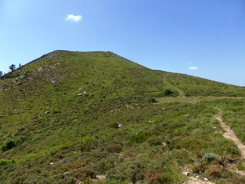 Sentier de la crête Vaccia - Cavalletti : arrivée sous Punta di I Cavalletti
