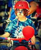 Girl with cat face, Ryan Place July 4 Parade, Fort Worth, 2014