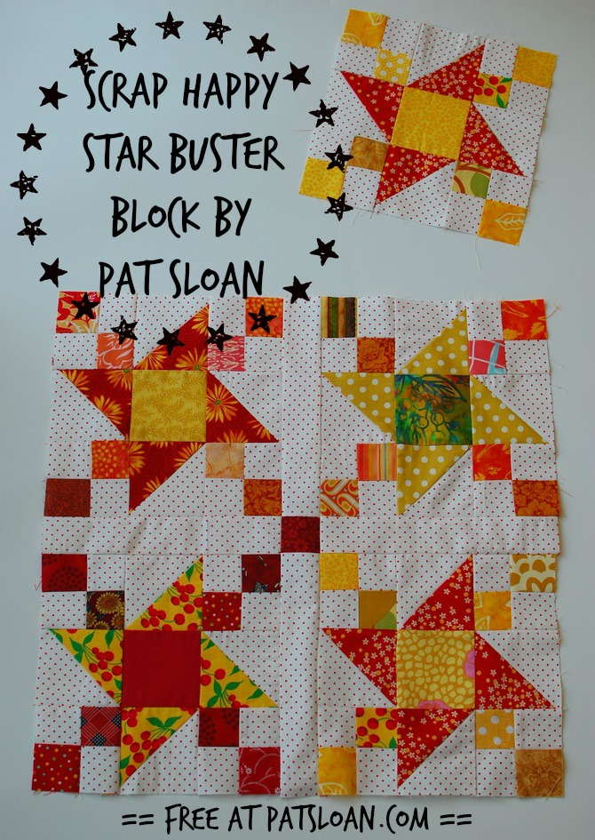 pat sloan scrap happy star buster block