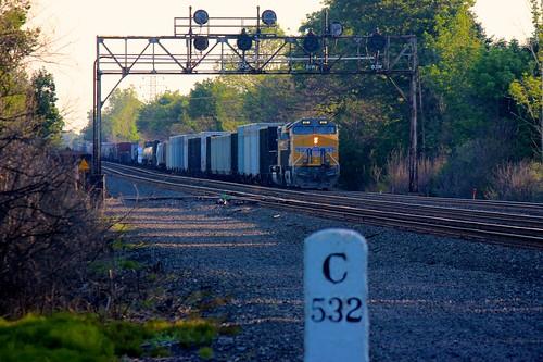 railroad up train rail railway unionpacific signal freight csx hamburgny signalbridge