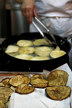 frying eggplant