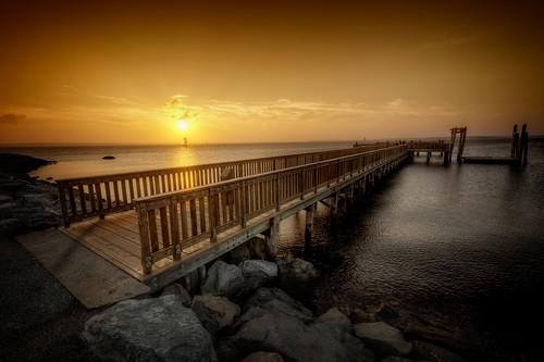ocean park ri sunset bristol harbor pier fishing unitedstates newengland rhodeisland coltstatepark