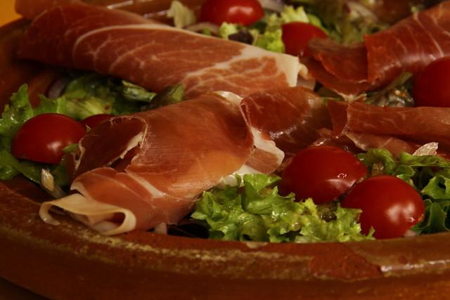 kaasfondue en salade