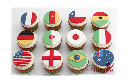 World Flag Cupcakes