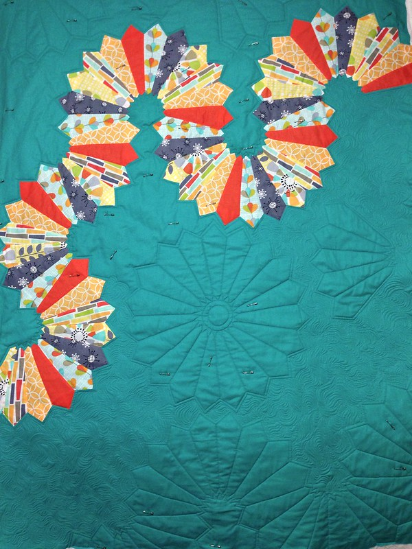 Hopscotch Lane - quilting in progress