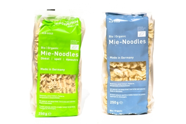 Inhalt Degustabox Mai, Alb-Gold, Mie-Noddles, Mie-Nudeln