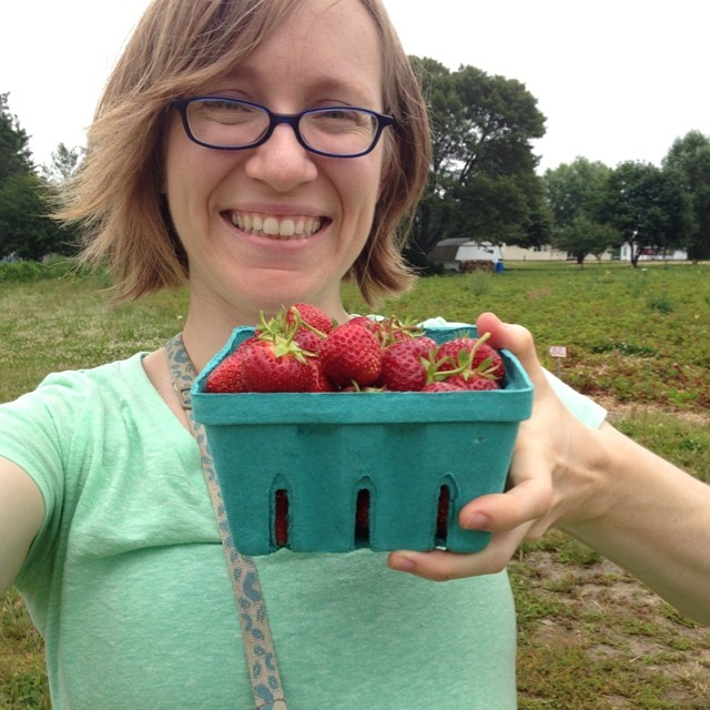 Me and my strawberries. #latergram