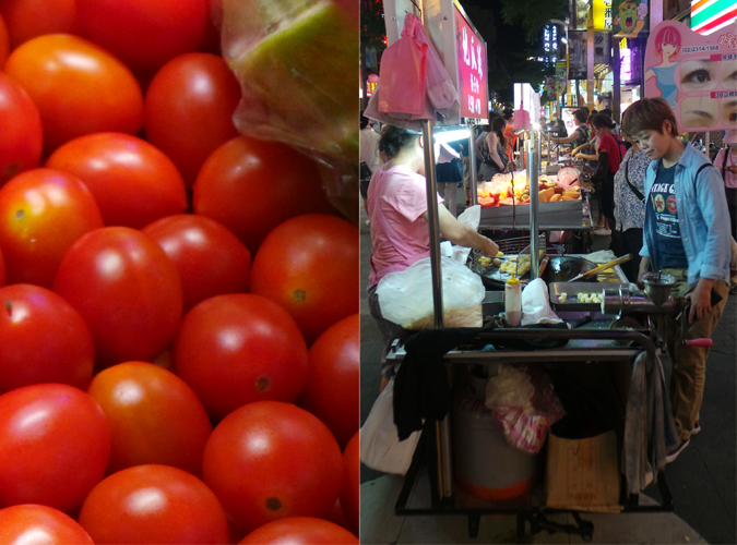 Taiwan tomato night market