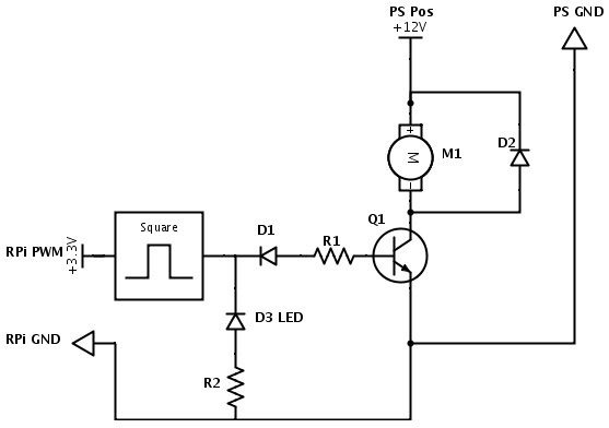 controlling speed of dc fan with pwm raspberry pi forums rh raspberrypi org  pwm fan controller circuit diagram