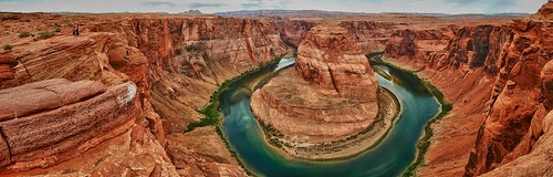 arizona usa water river landscape flow colorado desert meander