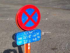 Ypres - EU top - no parking sign