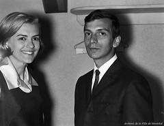 Germaine Dugas et Claude Palmieri à la boîte à chansons «Sous les étoiles», 6 juillet 1965, VM94-S52-017