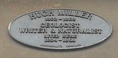 Photo of Hugh Miller blue plaque