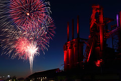 4th of July Fireworks Display Next to the Bethlehem Steel Stacks