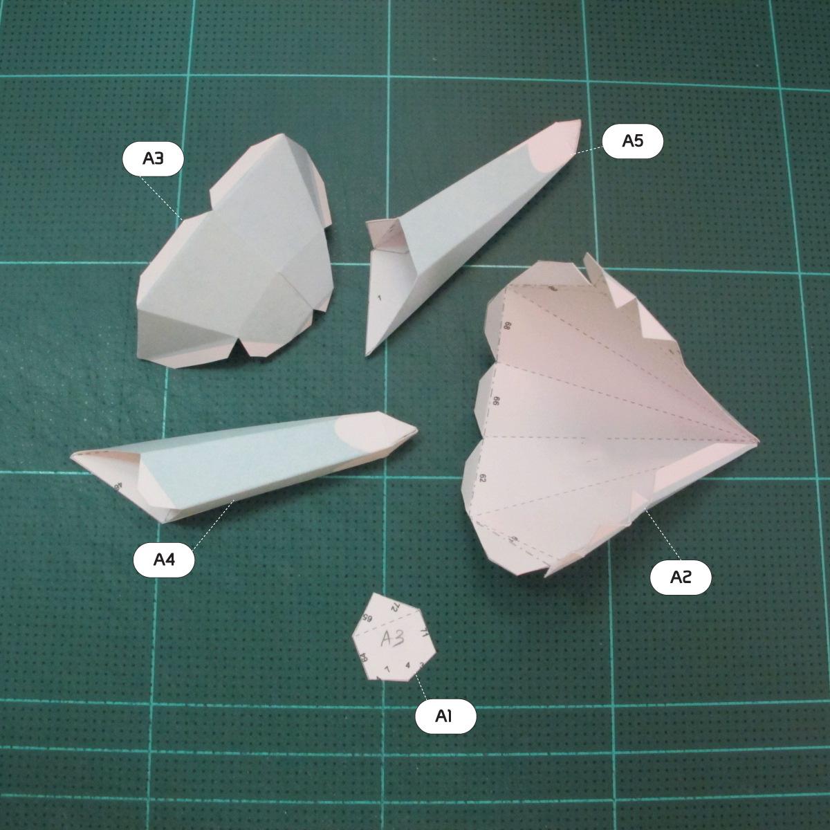 วิธีทำโมเดลกระดาษคุกกี้รันจิ้งจอกเก้าหางในร่างหมาจิ้งจอก (Cookie Run Ninetails Fox Form Papercraft Model) 003