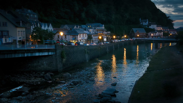 Lynmouth at dusk