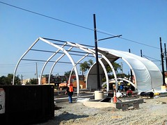 CBTC tent installation.