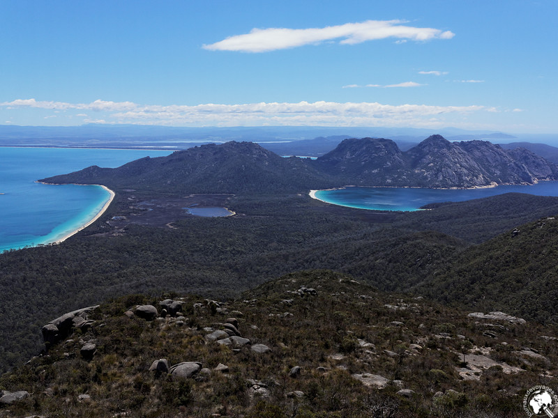 Hazard beach et Wineglass Bay depuis Mont Graham